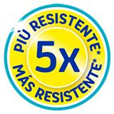 5 volte più resistente