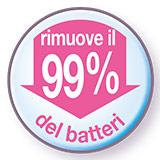 Rimuove il 99% dei batteri