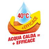 Più efficace con acqua calda