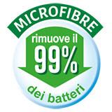 Microfibre che rimuovono il 99% dei batteri